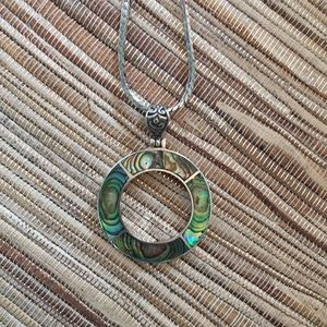 Abalone sterling silver pendant
